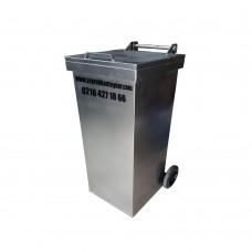120 Litre Metal Galvaniz Çöp Konteyneri