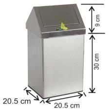 İç Mekan Çatı Kapaklı Çöp Kovası 1305