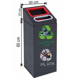 2520 Elektronik Atık ve Pil Atık Kutusu (Boyalı)