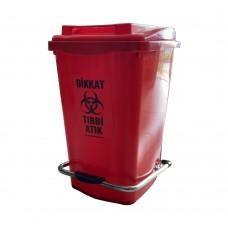 45 Litre Tıbbi Atık Plastik Sıfır Atık Konteyneri