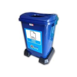 50 Litre Plastik Sıfır Atık Geri Dönüşüm Kovası Kağıt